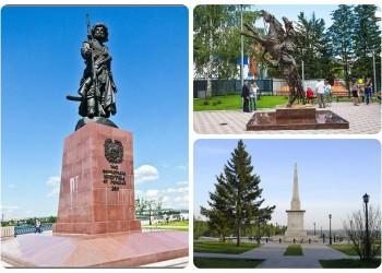 Памятники Ермаку в Тобольске и России