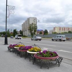 В Тобольске убирают цветочное оформление улиц