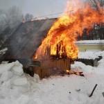 В Тобольске горели бани, сараи и дачи