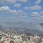 В Тобольске вновь горит городская свалка