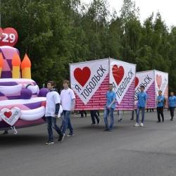 Праздничный парад в Тобольске. Фоторепортаж.