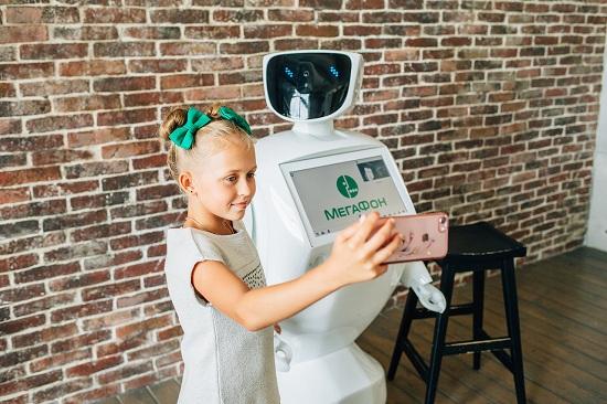 Сэлфи с роботом