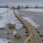 Переправа через Иртыш закрыта для автомобилей