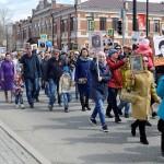 День Победы в Тобольске. Праздничное шествие