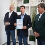 В Тобольске чествовали чемпиона мира по летнему биатлону Вячеслава Малеева