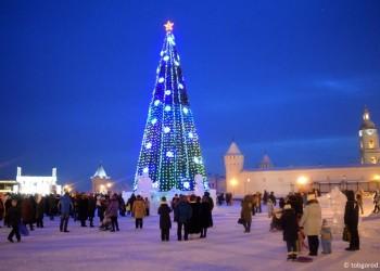 В Тобольске открыли ледовый городок. Фото