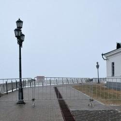 В Тобольске из-за возможного обрушения склона закрыли смотровую площадку у кремля
