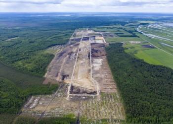 В Тобольске продолжается строительство аэропорта. Фото