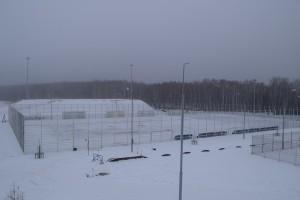 В Тобольске зальют каток на футбольном поле