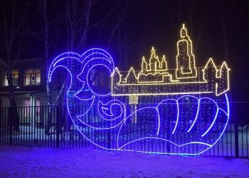 Улицы и здания Тобольска украсят 360 световых фигур