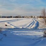 На ледовой переправе Тобольск-Бекерева установлен знак 40 тонн