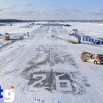 В Тобольске продолжается строительство аэропорта. Работа идет по графику