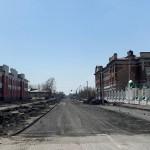 На главной улице подгоры продолжается капитальный ремонт