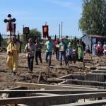 В Иртышском продолжается строительство храма в честь Ксении Петербургской