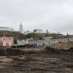 На улице Мира начались археологические исследования