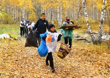 Участники «Чистых игр» очистили от мусора Панин бугор. Фото