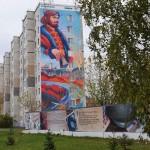 На фасадах тобольских многоэтажек появились новые картины