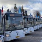 В Тобольск поступили 18 современных низкопольных автобусов