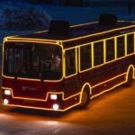 Новогодний автобус вновь вышел на улицы Тобольска