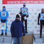 Тоболяк Денис Таштимеров завоевал три медали первенства России по биатлону