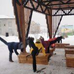 На Базарной площади проходят уличные фитнес-тренировки