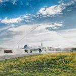Тобольский аэропорт принял первый рейс с пассажирами